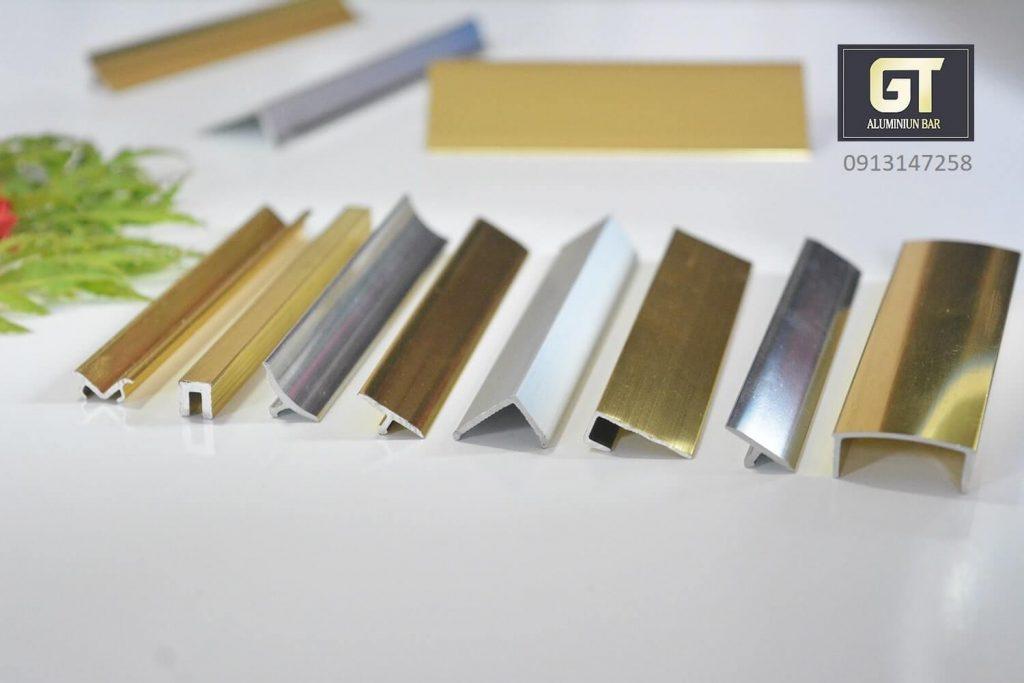 Nẹp nhôm trang trí nhiều kiểu dáng màu sắc sử dụng cho nhiều công trình khác nhau