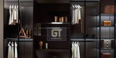 Cánh kính tủ áo cá tính riêng cho không gian phòng ngủ