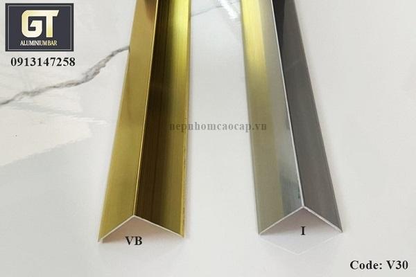 Nẹp nhôm trang trí được sản xuất từ hợp kim nhôm và công nghệ Anode